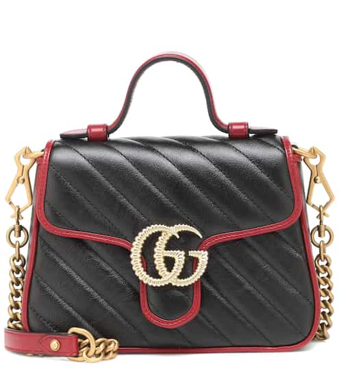 a65546773 GG Marmont Mini leather shoulder bag | Gucci