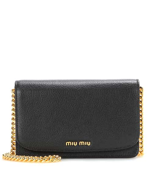 Miu Miu Leather Shoulder Bag from mytheresa - Styhunt 1feafd194b9f9
