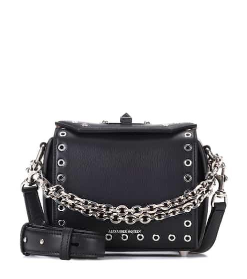 Alexander McQueen Schultertasche Box 16 aus Leder