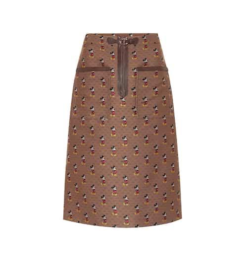 구찌 Gucci x Disney GG jacquard midi skirt