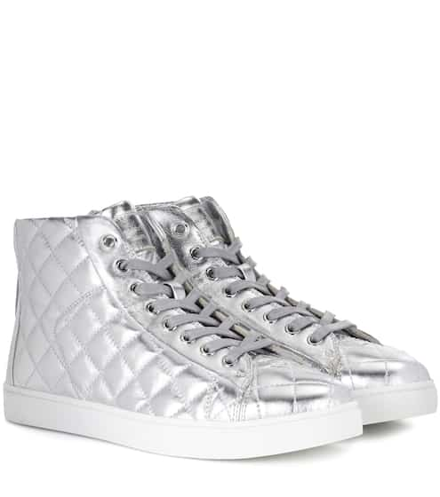 Gianvito Rossi Exklusiv bei mytheresa.com – Sneakers High Driver aus Metallic-Leder