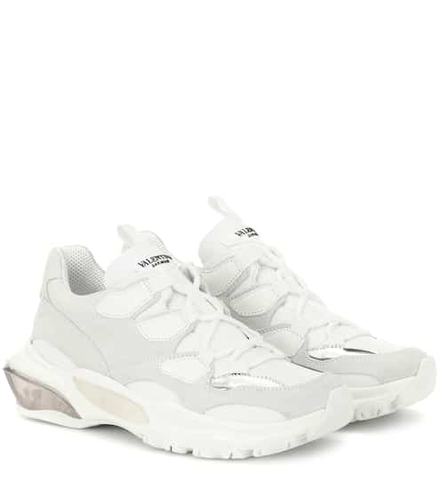 6cbd069aeba4 Valentino Garavani Bounce leather sneakers