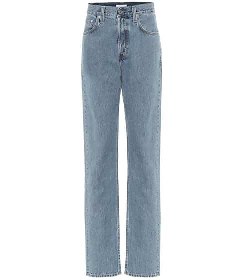 High-rise straight leg jeans by Helmut Lang, available on mytheresa.com for EUR270 Kourtney Kardashian Pants SIMILAR PRODUCT