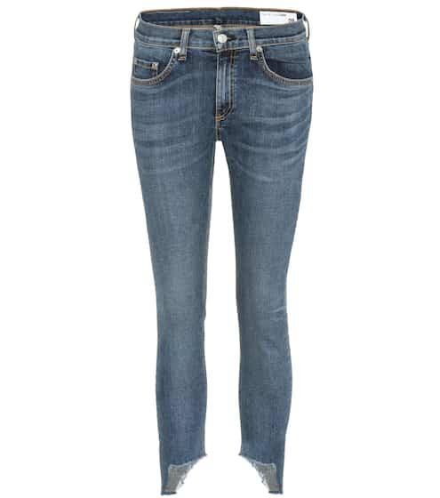 Rag & Bone Cropped Jeans Capri aus Stretchdenim