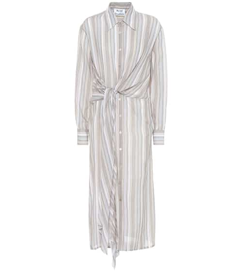 아크네 스튜디오 Acne Studios Striped cotton shirt dress