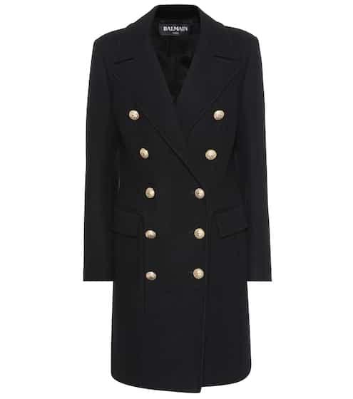 Balmain Mantel aus Wolle und Cashmere