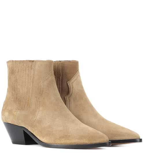3be0cd65e99 Isabel Marant Derlyn Suede Ankle Boots