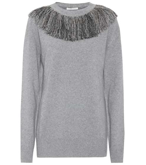 Christopher Kane Pullover aus Wolle und Cashmere mit Metallic-Fäden