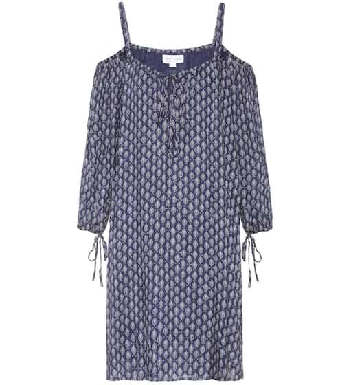 Velvet Schulterfreies Kleid Genna mit Print