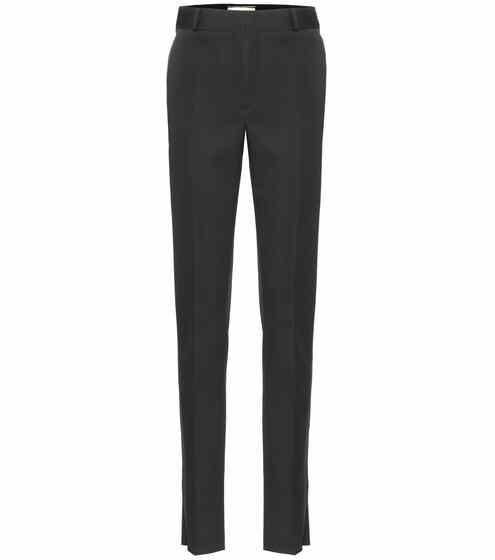Saint Laurent Hochsitzende Hose aus Wolle