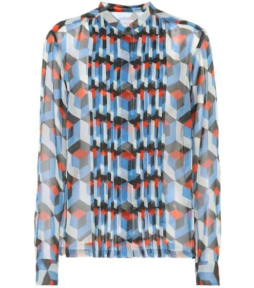 Dries Van Noten Bedruckte Bluse aus Seide