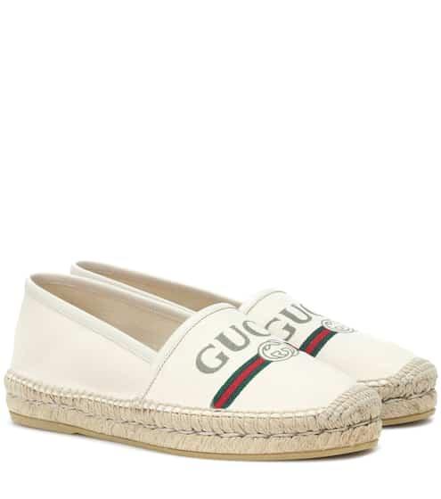 구찌 로고 에스파드류 오프 화이트 컬러 Gucci Logo espadrilles