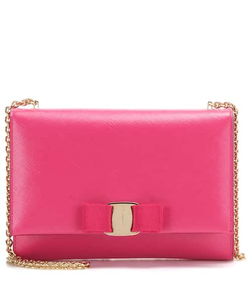 2cf2fd5574a0 Salvatore Ferragamo Ginny Small Leather Shoulder Bag from mytheresa ...