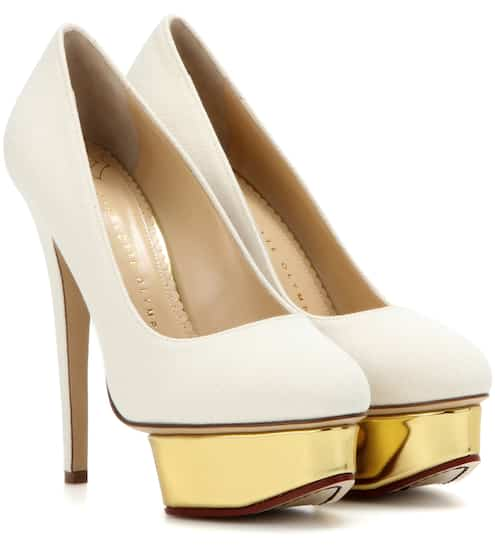 Charlotte Olympia Plateau-Pumps Dolly aus Canvas