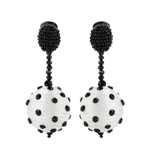 Oscar de la Renta Clip-Ohrringe mit Perlen