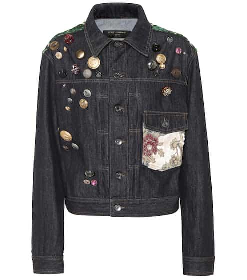 Dolce & Gabbana Jeansjacke mit Verzierungen