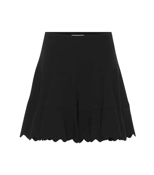 끌로에 Chloe High-rise crepe shorts