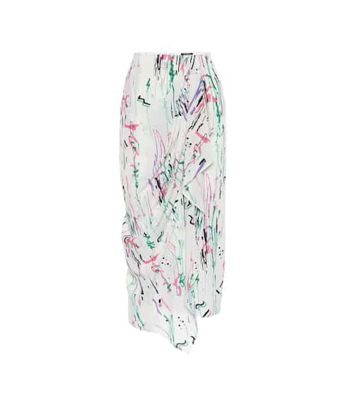 이자벨 마랑 Isabel Marant Fabiana stretch-silk midi skirt