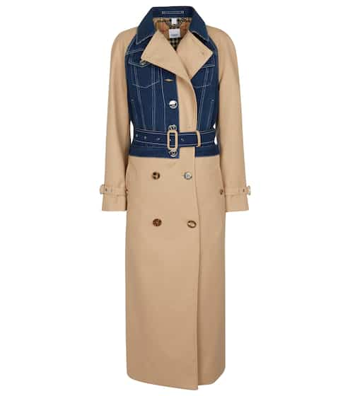 버버리 트렌치 코트 Burberry Denim and cotton gabardine trench coat