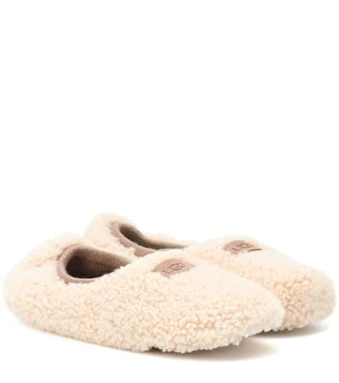 af57bbd28 UGG Australia Birche Fur Ballerina Slippers