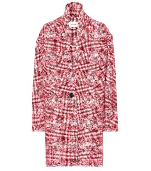 이자벨 마랑 에뚜왈 에브리 체크 코트 레드 Isabel Marant, EEtoile Ebrie checked wool-blend coat
