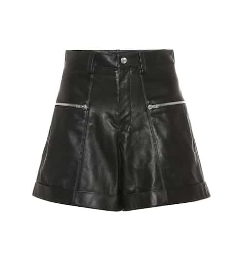 이자벨 마랑 Isabel Marant High-rise leather shorts