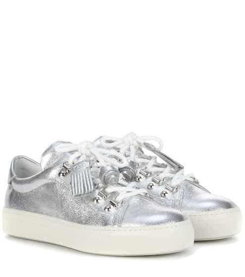 Tod's Sneakers aus Metallic-Leder