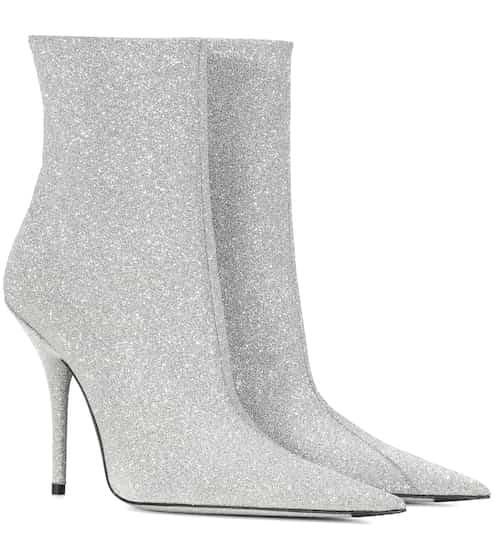 05a47fd1e19 Balenciaga Slash Heel Glitter Boots from mytheresa - Styhunt
