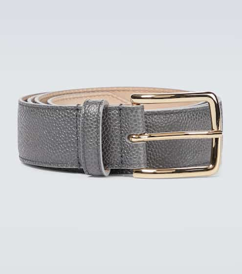 톰 브라운 4바 그레인 가죽 벨트 Thom Browne 4-Bar grained leather belt