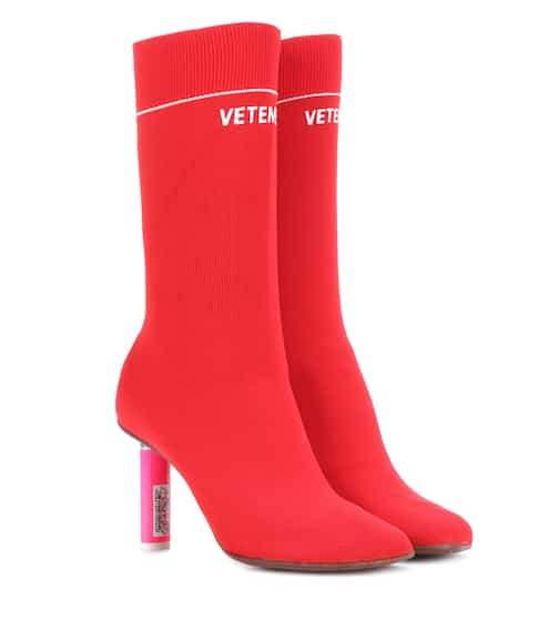Vetements Ankle Boots aus Jersey mit Stretch-Anteil