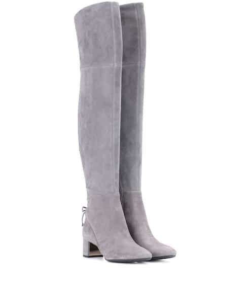 5778f34db Tory Burch Laila 45 Suede Over-The-Knee Boots