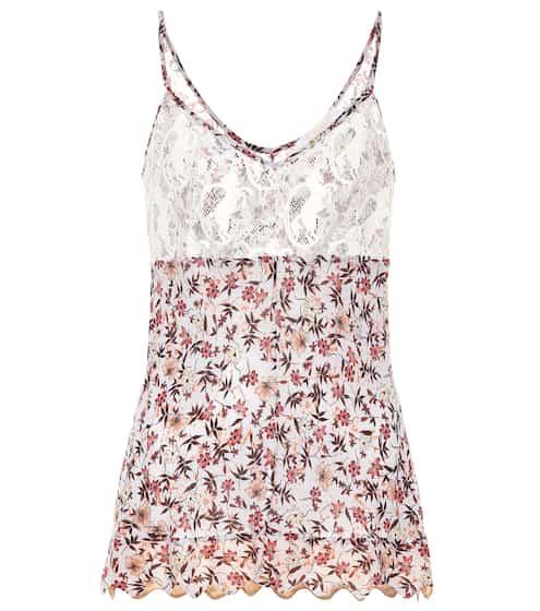 끌로에 Chloe Floral-print lace camisole