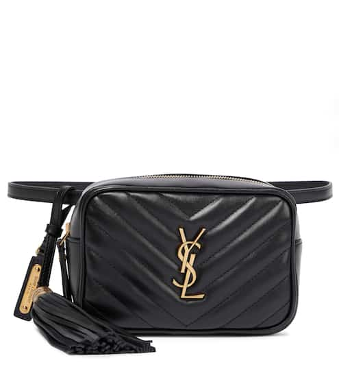 생 로랑 루백 벨트백 - 블랙 Saint Laurent Lou leather belt bag