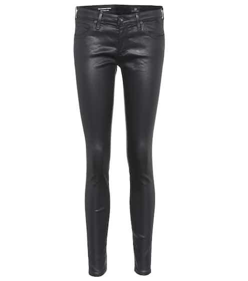 AG Jeans Skinny Hose The Legging Ankle aus Kunstleder