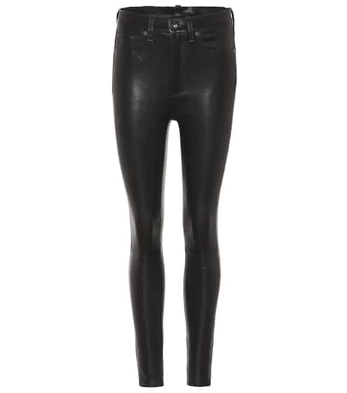 7b4cd77dc6859 Leather & Suede Trousers for Women at Mytheresa