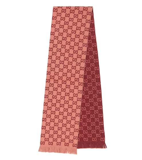 구찌 GG 자카드 울 스카프 Gucci GG jacquard wool scarf