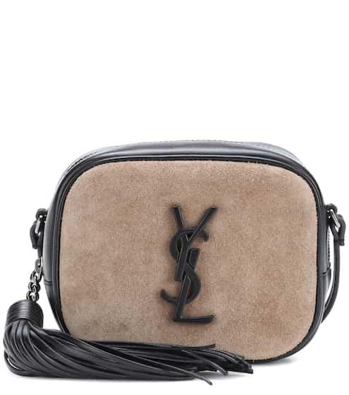 Saint Laurent Tasche Classic Monogram aus Veloursleder