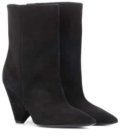 Saint Laurent Ankle Boots Niki 85 aus Veloursleder