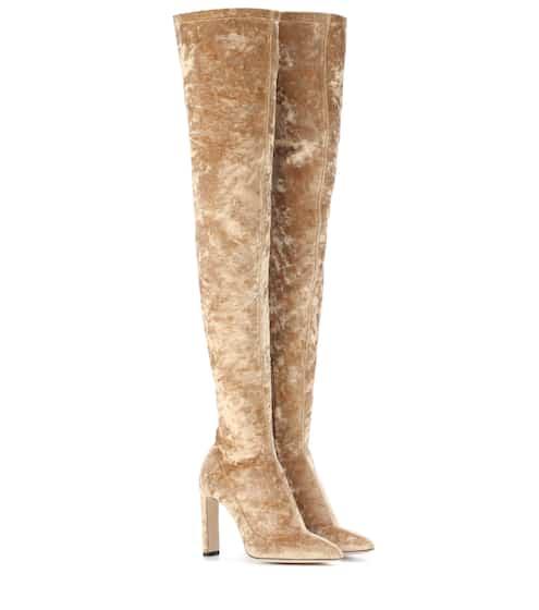 Lorraine 100 velvet over-the-knee boots | Jimmy Choo