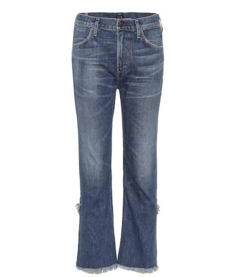Citizens of Humanity High-Waist Jeans Drew mit Fransen