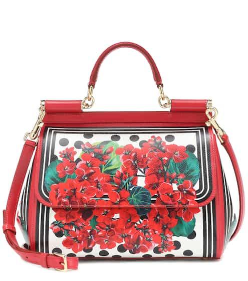 48e3c04dd4 Borsa Sicily Medium a stampa in pelle | Dolce & Gabbana