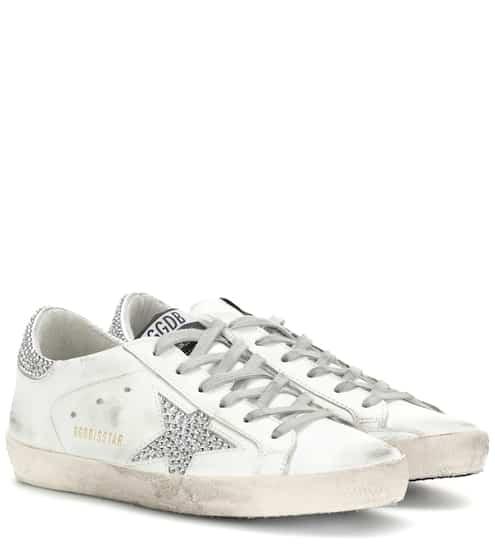 Esclusiva per mytheresa.com - Sneakers Superstar in pelle con cristalli Swarovski Golden Goose s62EM3F