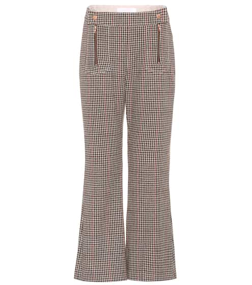 See By Chloé Cropped wool-blend trousers