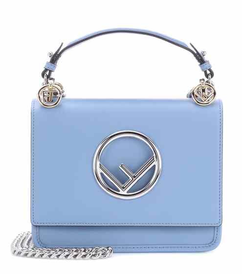 Kan I F Mini Leather Shoulder Bag | Fendi