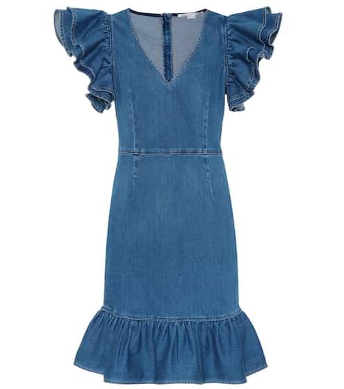 Hilary cotton denim dress GRLFRND cUgrwUh88