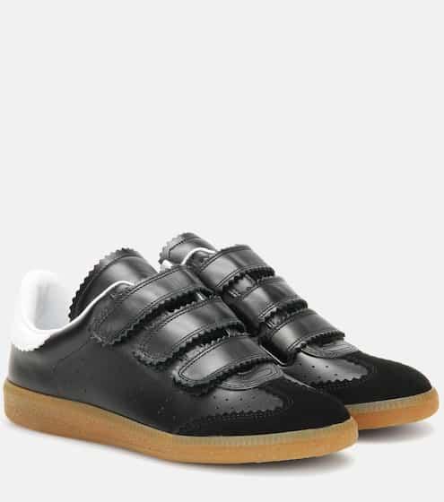 Isabel Marant Sneakers Beth aus Glatt- und Veloursleder