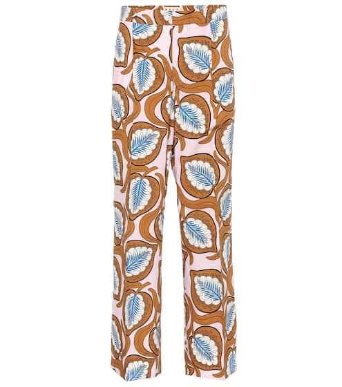 Printed cotton trousers by Marni, available on mytheresa.com for EUR250 Bella Hadid Pants SIMILAR PRODUCT