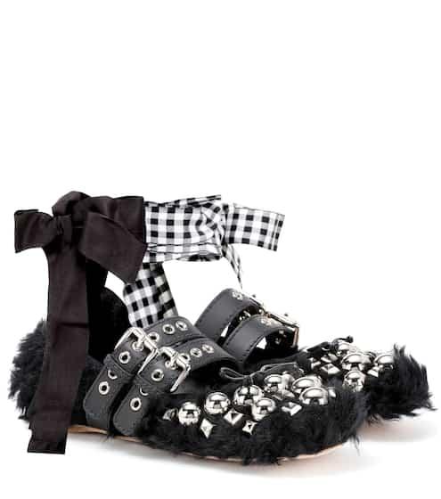 Miu Miu Ballerinas aus Faux Fur