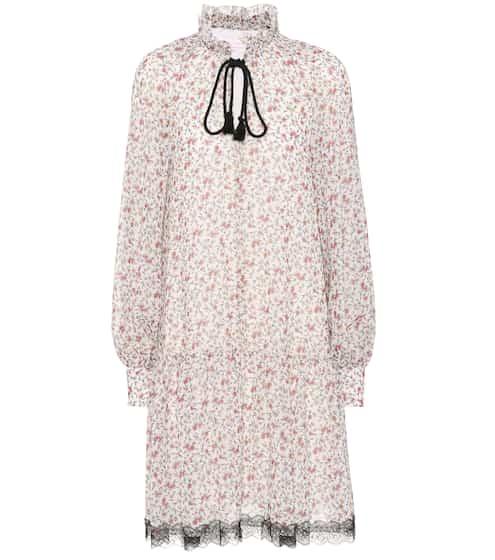 See By Chloé Bedrucktes Kleid mit Spitze