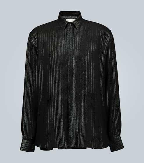 생 로랑 Saint Laurent Long-sleeved sequined shirt